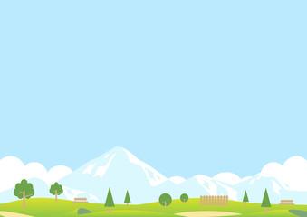 Foto op Plexiglas Lichtblauw 公園 雪山 風景