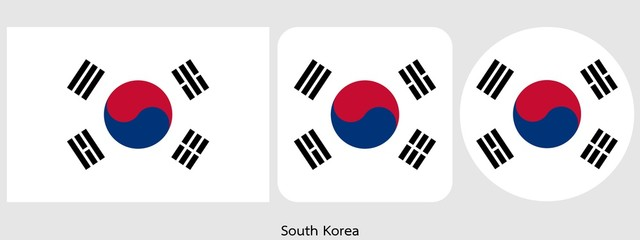 South Korea flag, vector illustration Wall mural