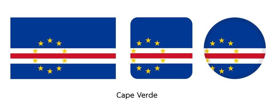 cape Verde flag, vector illustration
