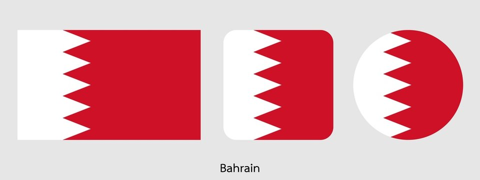 Bahrain flag, vector illustration