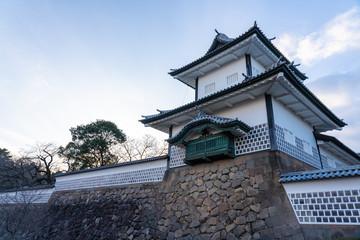 Wall Mural - Sunset at Kanazawa Castle in Kanazawa, Ishikawa Prefecture, Japan