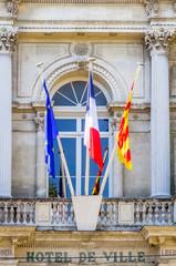 fronton d'hôtel de ville, Avignon, France
