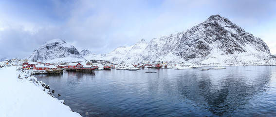 A village on Lofoten Islands