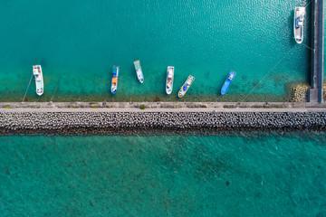 桟橋の鳥瞰図