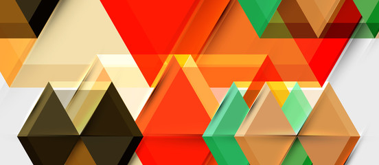 Hexagon abstract background, geometrical modern template Wall mural