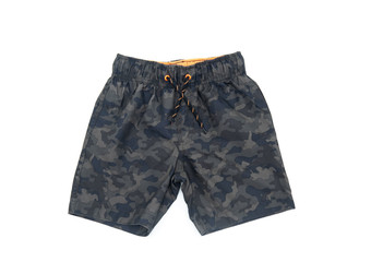 Swimming shorts for boy of military color.