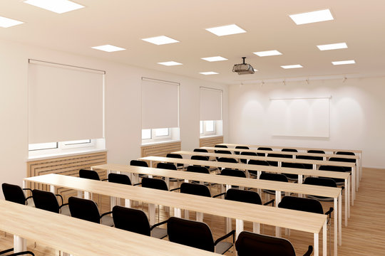 3d illustration. The conference hall.