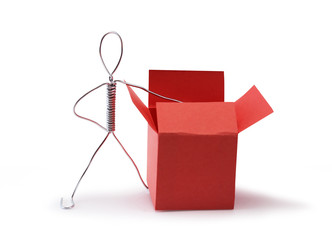 Man Near Red Box
