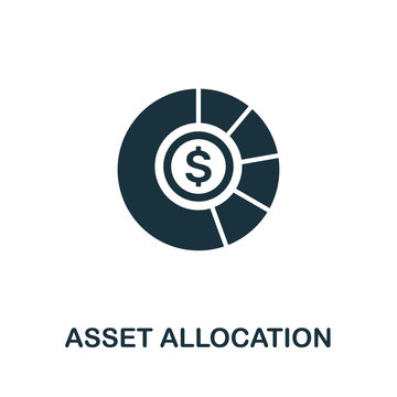 Asset Allocation vector icon symbol. Creative sign from investment icons collection. Filled flat Asset Allocation icon for computer and mobile