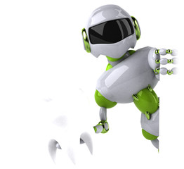 Canvas Prints Fairytale World Green robot - 3D Illustration