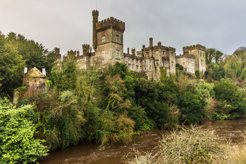 Lismore Castle as seen from the Blackwater River below