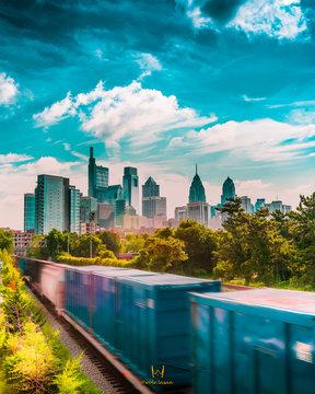 Skyline from South Street Bridge Philadelphia