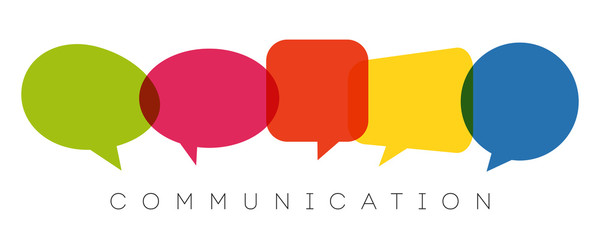 speech bubbles, communication concept, vector illustration Wall mural