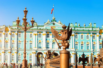 Saint Petersburg, Russia. Winter Palace and Hermitage Museum Building
