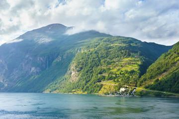 Abends im Geirangerfjord, Norwegen