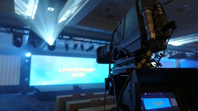 Professional camera at event