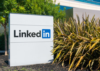 Linkedin Corporate Headquarters and Sign
