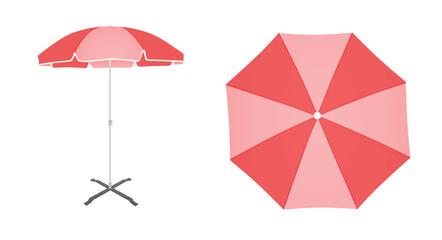 Obraz Pink sun umbrella. vector illustration - fototapety do salonu