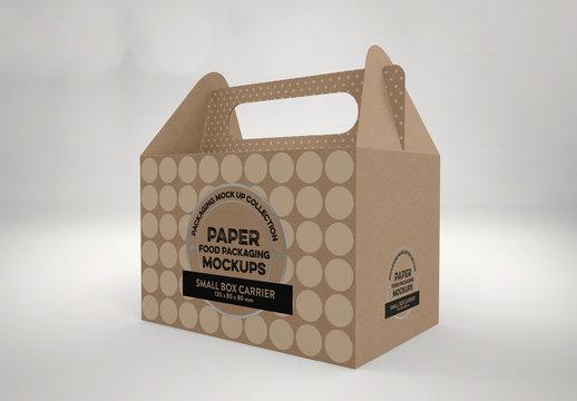 Angled Paper Cake Box Mockup