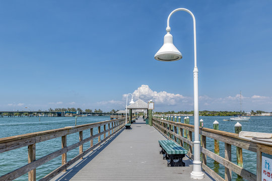 Historic Bradenton Beach fishing pier on Anna Maria Island, Florida