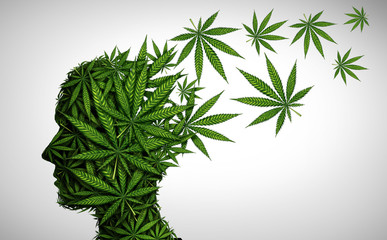 Marijuana Effects On The Brain Wall mural