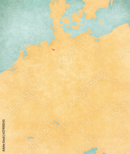 Map Of Bremen Germany.Map Of Germany Bremen Stock Photo And Royalty Free Images On