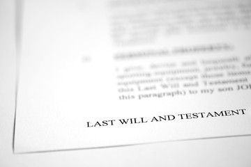 Last Will and Testament for Estate Planning