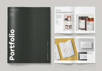 Minimalist Portfolio Brochure Layout with Bold Typography