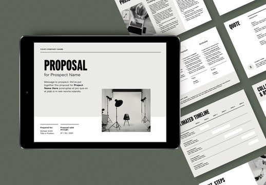 Simple Business Proposal Layout for Tablet