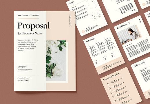 Minimalist Business Proposal Layout