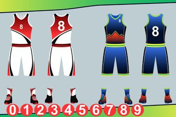 Basketball Jersey Template Illustration