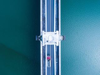 吊り橋の俯瞰図