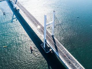 大きな吊り橋 鳥瞰図