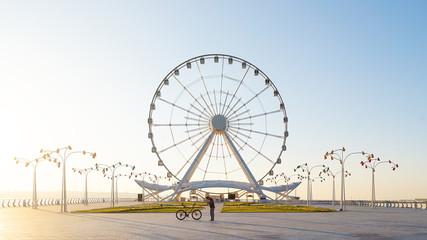Ferris wheel on the boulevard, Baku city