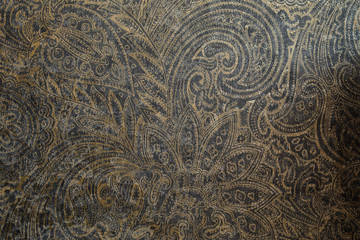 Fototapeta Old-fashioned wallpaper background with beautiful Eastern ornaments. Wallpaper in detail in close-up. obraz