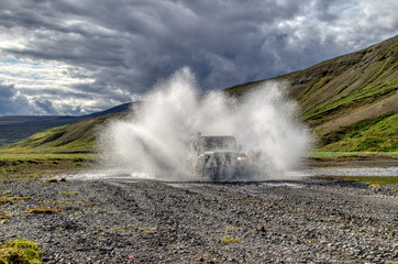 Wall Mural - Iceland - Defender - 4x4
