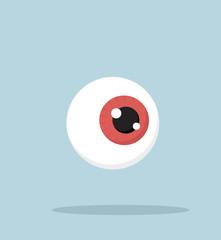 Human red eyeball vector Illustration