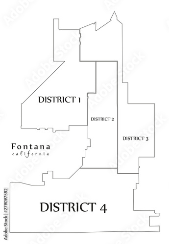 Modern City Map - Fontana California city of the USA with ... on lancaster map outline, chico map outline, inglewood map outline, fullerton map outline, san francisco map outline, washington and oregon map outline, usa map outline, inyo county map outline, avalon map outline,