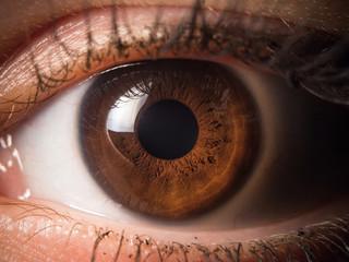 Foto op Plexiglas Iris Human eye close up