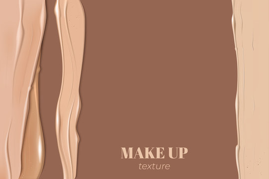 Realistic foundation creamy texture for beauty products ad, 3d effect