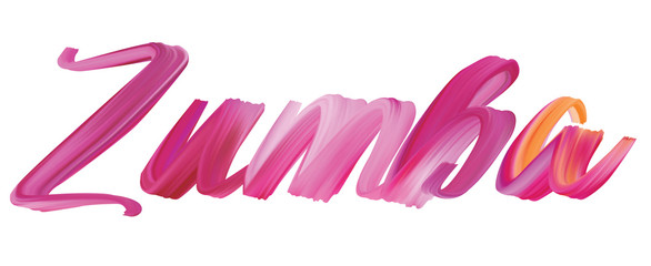 Zumba - painted calligraphy lettering