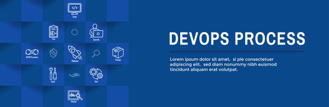 DevOps Icon Set - Dev Ops Web Header Banner