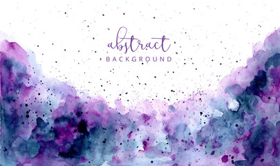 purple blue abstract watercolor texture background