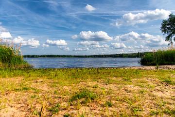 wild bathing place at a lake near Brandenburg
