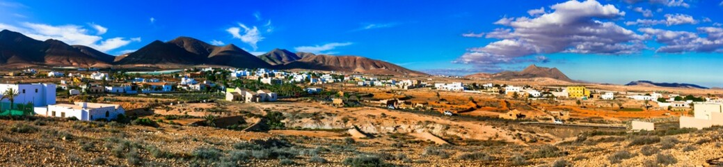 Volcanic Fuerteventura  island scenery,  Canary islands of Spain