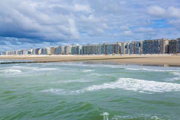 Blankenberge on the Atlantic coast in Flanders, Belgium