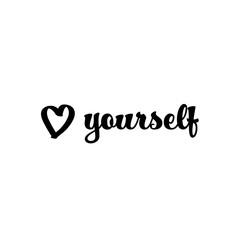 Obraz Quote LOVE YOURSELF - fototapety do salonu