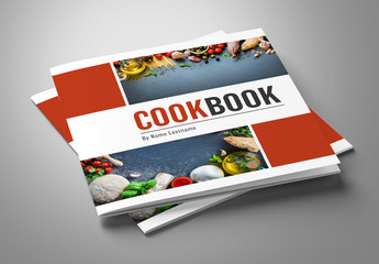 Cooking Book Layout with Red Accents