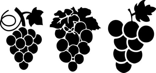 grape icon on color background Fototapete