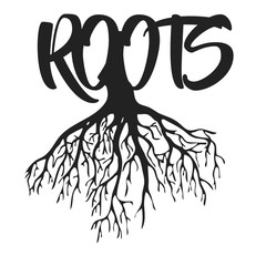 Roots Text Vector Illustrator